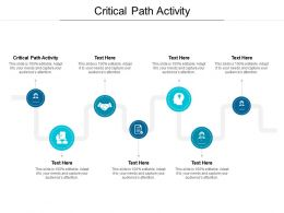 Critical Path Activity Ppt Powerpoint Presentation Gallery Graphics Example Cpb