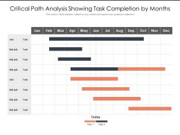 Critical Path Analysis Showing Task Completion By Months