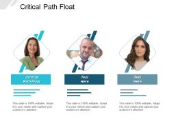 Critical Path Float Ppt Powerpoint Presentation Layouts Styles Cpb