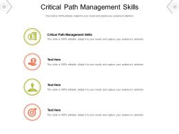 Critical Path Management Skills Ppt Powerpoint Presentation Ideas Gallery Cpb