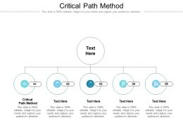 Critical Path Method Ppt Powerpoint Presentation Infographic Template Influencers Cpb