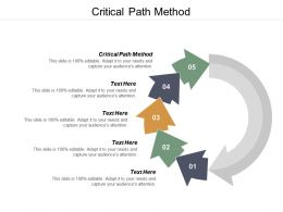 Critical Path Method Ppt Powerpoint Presentation Slides Format Cpb