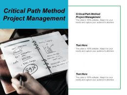 Critical Path Method Project Management Ppt Powerpoint Presentation Model Mockup Cpb