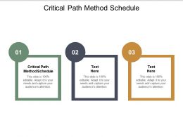 Critical Path Method Schedule Ppt Powerpoint Presentation Styles Good Cpb
