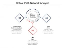 Critical Path Network Analysis Ppt Powerpoint Presentation Model Information Cpb