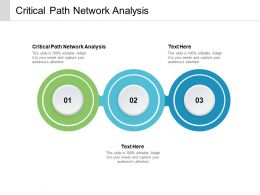 Critical Path Network Analysis Ppt Powerpoint Presentation Portfolio Example Introduction Cpb