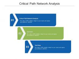 Critical Path Network Analysis Ppt Powerpoint Presentation Show Microsoft Cpb