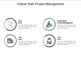 Critical Path Project Management Ppt Powerpoint Presentation Infographic Template Layout Ideas Cpb
