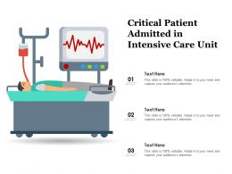 Critical Patient Admitted In Intensive Care Unit