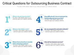 Critical Questions For Outsourcing Business Contract