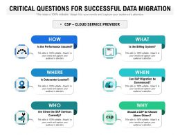 Critical Questions For Successful Data Migration