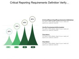 Critical Reporting Requirements Definition Verify Customers Information