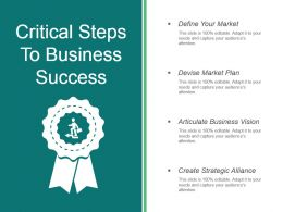 Critical Steps To Business Success Powerpoint Slides