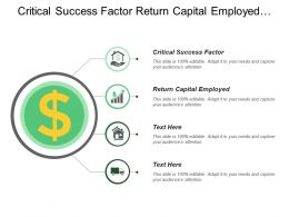 Critical Success Factor Return Capital Employed Premium Customer