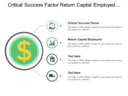 Critical Success Factor Return Capital Employed Premium Customer