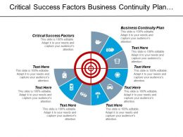 Critical Success Factors Business Continuity Plan Data Communications Cpb