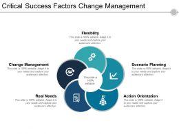Critical Success Factors Change Management Ppt Design Templates