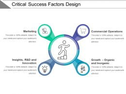 Critical Success Factors Design Ppt Diagrams