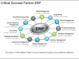 Critical Success Factors Erp Ppt Example File