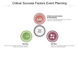 Critical Success Factors Event Planning Ppt Powerpoint Presentation Infographics Tips Cpb