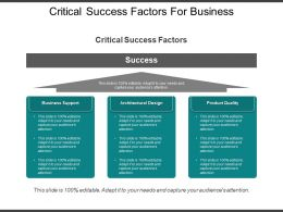 Critical Success Factors For Business Ppt Icon