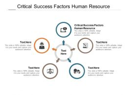 Critical Success Factors Human Resource Ppt Powerpoint Presentation Pictures Designs Cpb