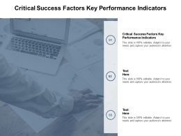 Critical Success Factors Key Performance Indicators Ppt Powerpoint Presentation Styles Picture Cpb