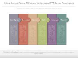 Critical Success Factors Of Business Venture Layout Ppt Sample Presentations