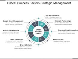 Critical Success Factors Strategic Management Ppt Model