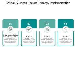 Critical Success Factors Strategy Implementation Ppt Powerpoint Presentation Pictures Clipart Cpb