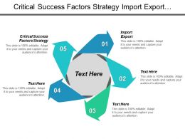 Critical Success Factors Strategy Import Export Organizational Structure Cpb
