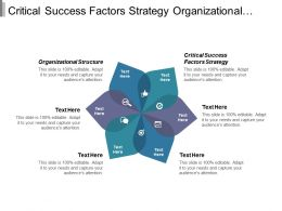 Critical Success Factors Strategy Organizational Structure Services Management Cpb
