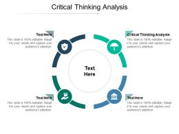 Critical Thinking Analysis Ppt Powerpoint Presentation Show Background Designs Cpb