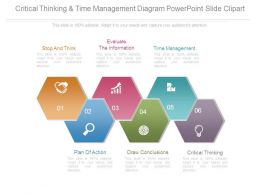 Critical Thinking And Time Management Diagram Powerpoint Slide Clipart