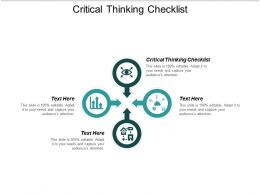 Critical Thinking Checklist Ppt Powerpoint Presentation Model Icon Cpb