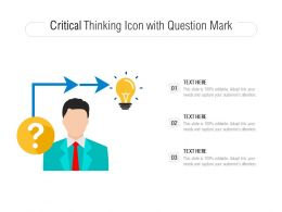 Critical Thinking Icon With Question Mark