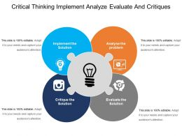 Critical Thinking Implement Analyze Evaluate And Critiques