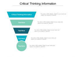 Critical Thinking Information Ppt Powerpoint Presentation Infographic Template Elements Cpb