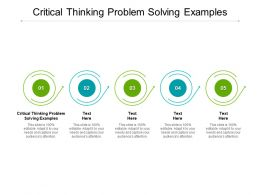 Critical Thinking Problem Solving Examples Ppt Powerpoint Presentation Model Cpb