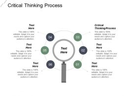 Critical Thinking Process Ppt Powerpoint Presentation Infographic Template Inspiration Cpb