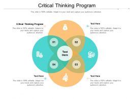 Critical Thinking Program Ppt Powerpoint Presentation Slides Picture Cpb