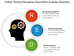 Critical Thinking Recognize Assumption Evaluate Argument