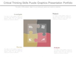 Critical Thinking Skills Puzzle Graphics Presentation Portfolio