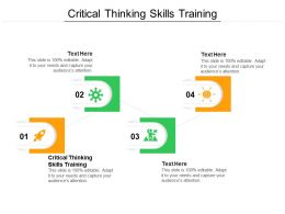Critical Thinking Skills Training Ppt Powerpoint Presentation Model Diagrams Cpb