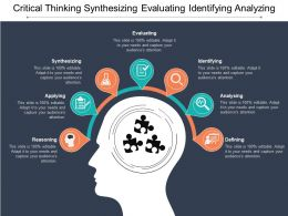 Critical Thinking Synthesizing Evaluating Identifying Analyzing