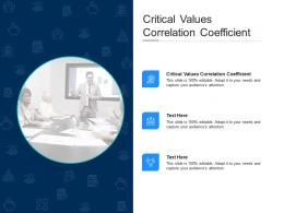 Critical Values Correlation Coefficient Ppt Powerpoint Presentation File Outline Cpb