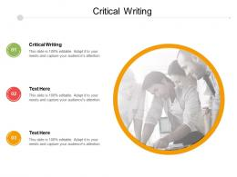 Critical Writing Ppt Powerpoint Presentation Slides Background Designs Cpb