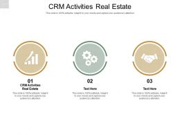 CRM Activities Real Estate Ppt Powerpoint Presentation Infographics Icon Cpb