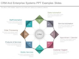 Crm And Enterprise Systems Ppt Examples Slides