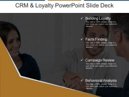 Crm And Loyalty Powerpoint Slide Deck